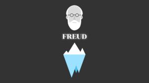 Sigmund Freud Minimalism Dark Background Simple Vector Science 2560x1600 Wallpaper