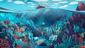 Water Fish Coral Reef Coral Seaweed Underwater Tristan Gion Waves Sea 1920x1080 Wallpaper
