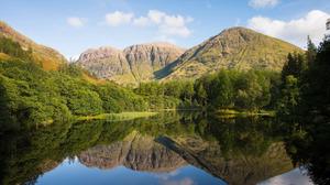 Lake Mountain Reflection 1920x1200 wallpaper