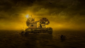 Boat Sunset 3840x2160 Wallpaper