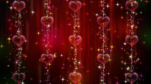 Digital Art Glitter Heart Love Pattern Red 3508x2480 Wallpaper