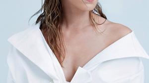 Emma Watson Women Actress Wet Hair Simple Background Long Hair 1250x2000 Wallpaper