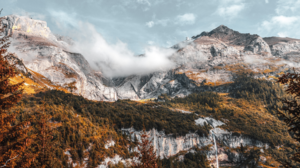 Nature Landscape Trees Mountains Waterfall Rocks Clouds Sky Fall Alps Italy 1920x1080 Wallpaper