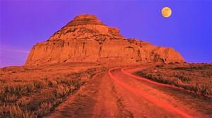 Rock Desert Moon 1920x1080 wallpaper