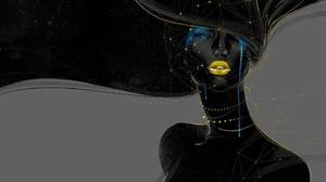 Crying Abstract Digital Art Face 1440x900 Wallpaper