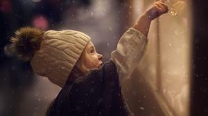 Winter Glass Snow Girl Mood 2500x1786 Wallpaper