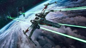 Spaceship Tie Fighter X Wing 2100x1080 Wallpaper