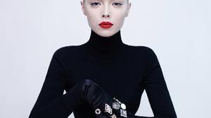 Fashion Jewelry Shiny Women Rings Lipstick Eyes Luxury Makeup Blond Hair Blonde Face Silver Studio T 4724x4724 Wallpaper
