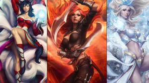 Ahri League Of Legends Janna League Of Legends Katarina League Of Legends 1920x1200 Wallpaper