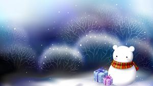 Snowman Gift Christmas 1920x1200 Wallpaper