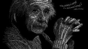 Albert Einstein Text Typography 5333x3333 Wallpaper