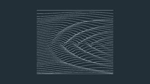 Simple Simple Background Minimalism Waveforms 3840x2160 Wallpaper