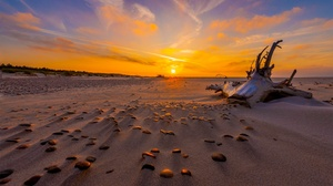 Sand Sky Sunset Nature Horizon 2880x1923 Wallpaper