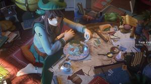 Thornsdance T5 School Uniform Anime Girls Room Food 1920x837 Wallpaper