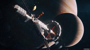 Space Spaceship Planet 3840x2160 Wallpaper
