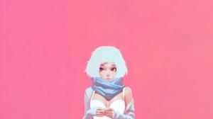 Girl Short Hair White Hair 2560x1440 Wallpaper