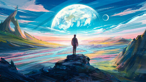 Digital Painting Science Fiction Landscape Aenami 1920x1080 wallpaper