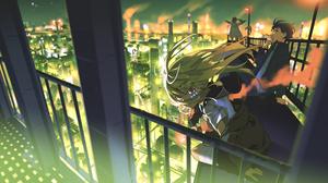 Anime Anime Girls Anime Boys Artwork Yoneyama Mai Cityscape 4780x2615 wallpaper