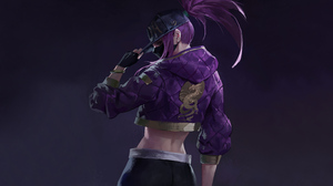 League Of Legends Akali League Of Legends Video Game Art Video Games Video Game Characters Violet Ha 3840x2160 Wallpaper