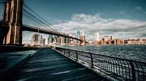 Brooklyn Bridge Building City New York 2048x1365 Wallpaper