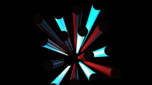 Black Red Blue Ligths 3560x2600 Wallpaper