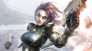 Woman Warrior Girl Weapon 3840x2160 Wallpaper