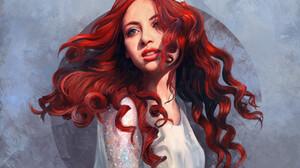 Mandy Jurgens Digital Art Artwork Drawing 3000x2151 wallpaper