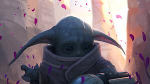 Baby Yoda Star Wars Science Fiction Helmet The Mandalorian 1920x2616 Wallpaper