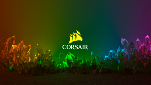 Corsair Logo PC Gaming Colorful 1920x1080 Wallpaper