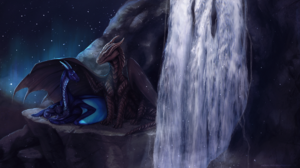 Dragon Waterfall 2755x1574 wallpaper