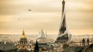 City Cityscape Deus Ex Mankind Divided Eiffel Tower Monument Paris 5928x3936 wallpaper