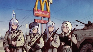 Anime Girls WestKing Girls Frontline AK 12 Girls Frontline AK 15 Girls Frontline AN 94 Girls Frontli 2048x1133 Wallpaper