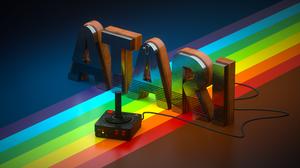 Cinema 4D Atari Render CGi Retro Games Video Games 3840x2160 Wallpaper