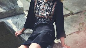 Alicia Vikander Women Actress Swedish Black Dress Black Boots Women Outdoors Sunlight 1536x1960 wallpaper