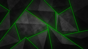 Black Green Shapes 3840x2160 wallpaper