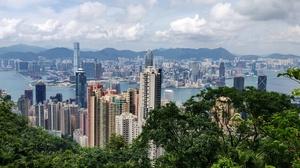 Man Made Hong Kong 3959x1815 Wallpaper