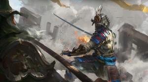 Warrior Armor Sword Battle 1920x1080 wallpaper
