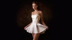 Dress Legs White Dress 1920x1080 wallpaper