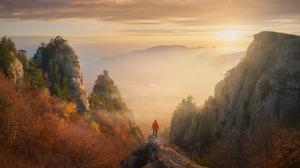 Daniel Kordan Landscape Sky Clouds Horizon Sunlight Cliff Mountains Plants Nature 1800x1440 Wallpaper