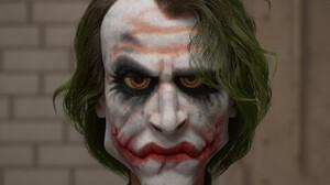 3D Render CGi Joker Caricature 1724x1724 Wallpaper