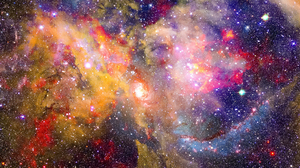 Artistic Colors Space Spiral Galaxy 2986x1681 Wallpaper