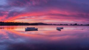 Boat Lake Loch Lomond Scotland Sunset 6000x3375 Wallpaper