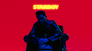 Vaporwave Synthwave The Weeknd Starboy Simple Background Cross 1920x1081 wallpaper
