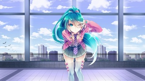 Girl Hatsune Miku Vocaloid 2560x1440 Wallpaper