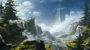 Xbox Game Studios Halo Video Games Video Game Art Sky Landscape Nature Science Fiction 1920x1080 Wallpaper