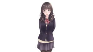 Anime Anime Girls Original Characters Artwork Yukimaru217 School Uniform 2560x1440 wallpaper
