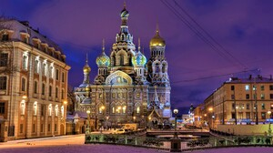 Architecture Church Russia Saint Petersburg Square 4495x3000 wallpaper