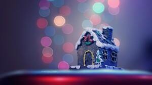 Bokeh Cake Christmas Christmas Lights House 1920x1200 Wallpaper
