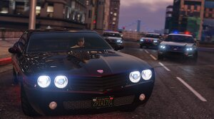 Video Game Art Video Game Heroes Grand Theft Auto V Video Games PC Gaming Car Vehicle Black Cars 1920x1080 Wallpaper