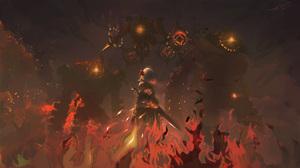 Fire Noelle Genshin Impact 1920x1080 Wallpaper